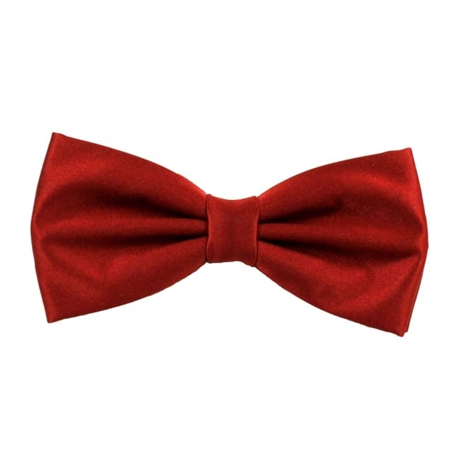 Plain Wine Red Bow Tie from Ties Planet UK