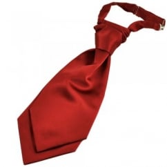 Plain Wine Red Boys Scrunchie Wedding Cravat