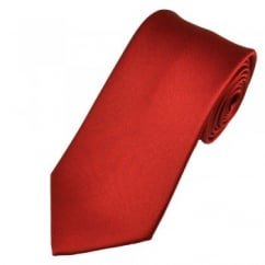 Plain Wine Red Boys Tie