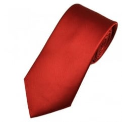 Plain Wine Red Satin Tie