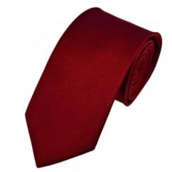 Plain Wine Red Silk Tie
