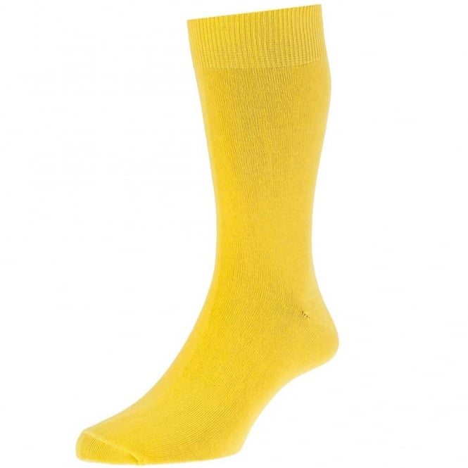 Plain Yellow Men S Socks By Hj Hall From Ties Planet Uk