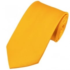 Plain Yellow Silk Tie