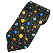 Planets of the Solar System Astronomer Men's Novelty Tie