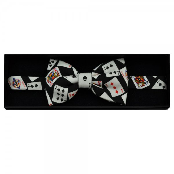 playing cards novelty bow tie