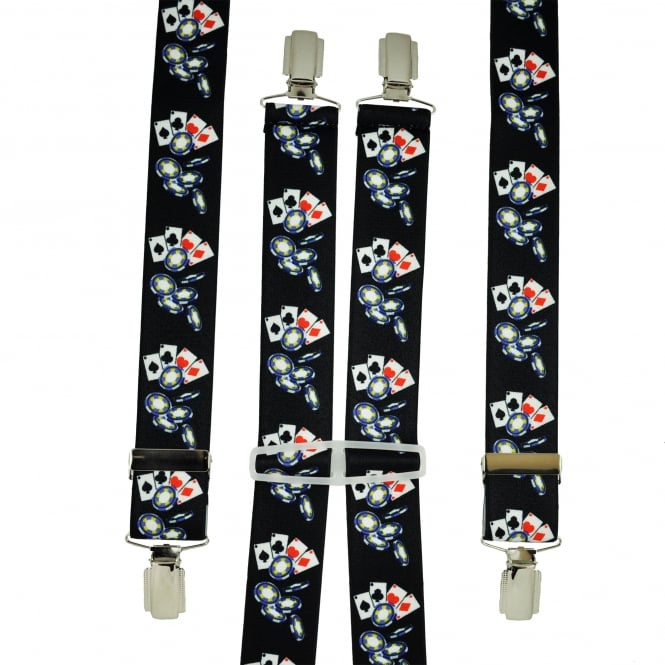 Playing Cards & Poker Chips Men's Trouser Braces