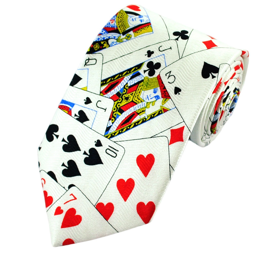 playing cards themed silk novelty tie from ties planet uk