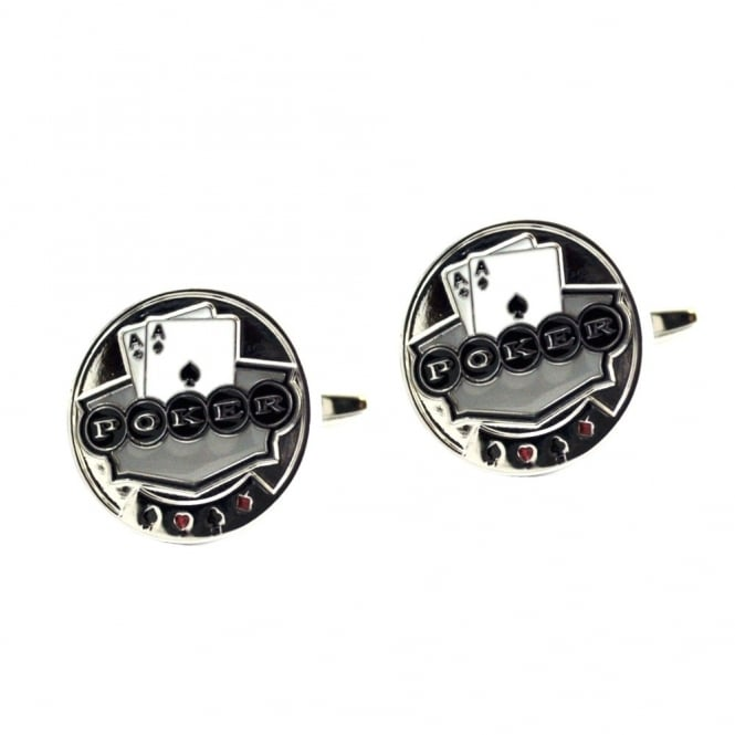 Poker Pair of Aces Cufflinks