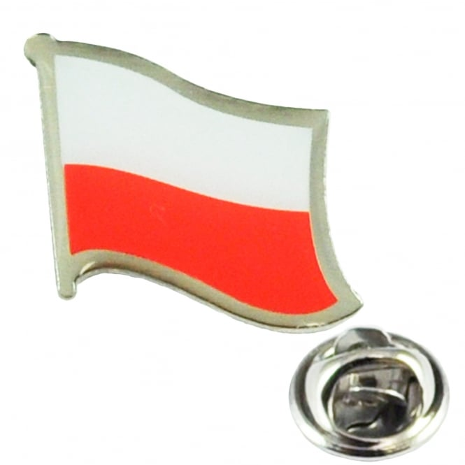 Poland Flag Lapel Pin Badge