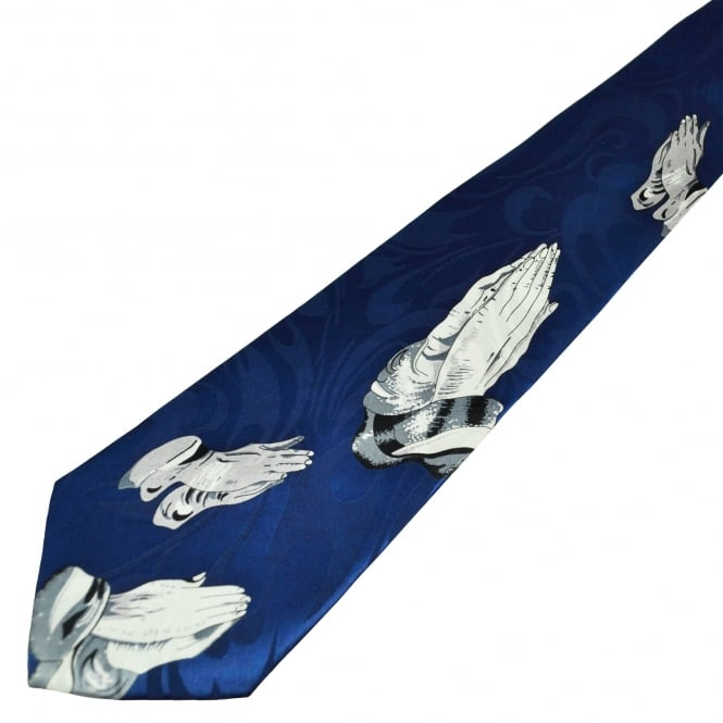 Praying Hands Royal Blue Men's Tie