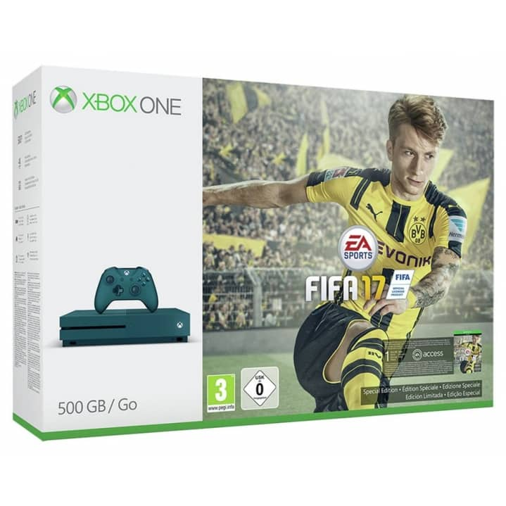 Win an Xbox One S 500GB Blue Console and FIFA 17 Digital Download