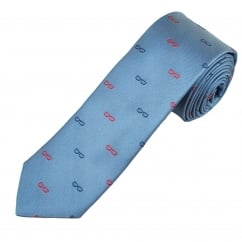 Profuomo Blue & Red Reading Glasses Narrow Silk Designer Tie