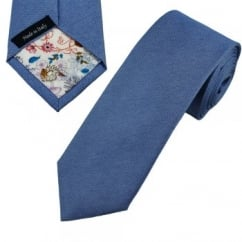 Profuomo Blue Silk Narrow Designer Tie