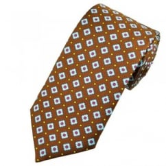Profuomo Brown & Blue Diamond Silk Designer Tie