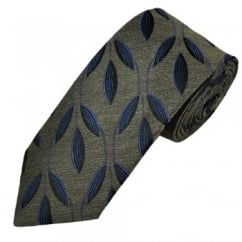 Profuomo Camel, Black & Blue Patterned Silk Blend Men's Designer Tie