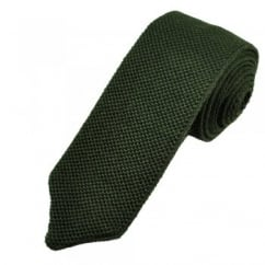 Profuomo Plain Green Wool Designer Knitted Tie