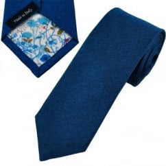 Profuomo Royal Blue Silk Narrow Designer Tie