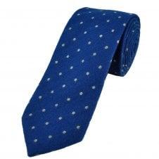 31056212dbcc Profuomo 'Sky Blue Label' Royal Blue & Grey Polka Dot Cashmere Silk Blend  Men's