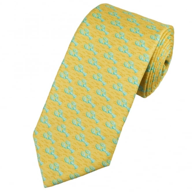 Profuomo Yellow Lobster Silk Designer Tie