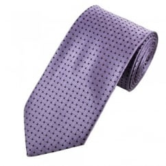 Purple & Black Basket Weave Patterned Men's Tie