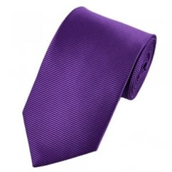 Purple & Black Horizontal Rib Shadow Striped Tie