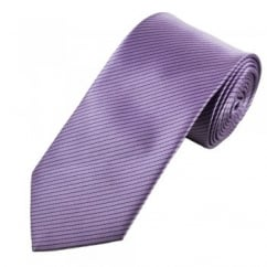 Purple & Black Striped Men's Tie