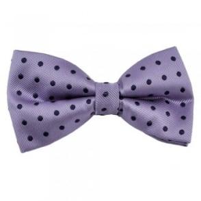 Purple & Blue Silk Polka Dot Bow Tie