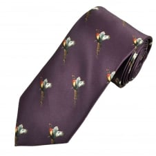 Purple Flying Pheasant Country Tie
