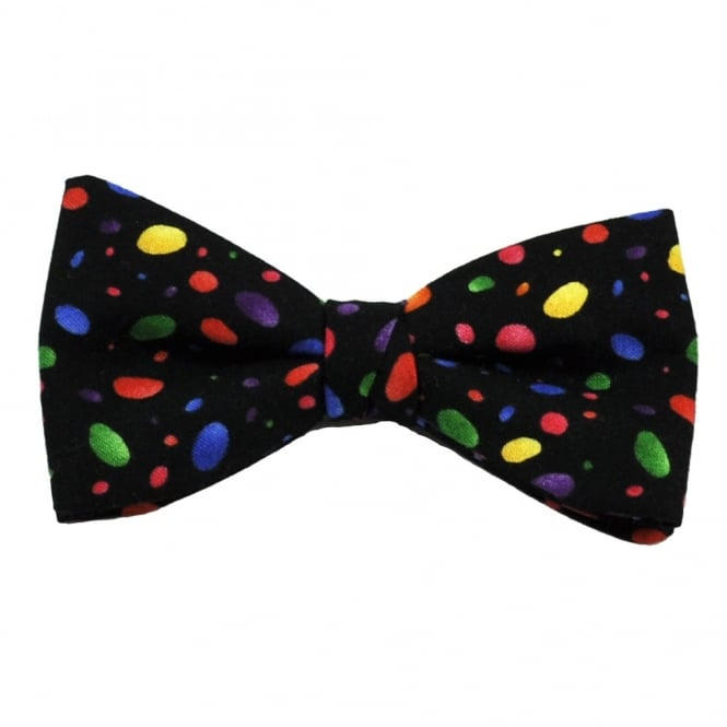 Purple, Green, Yellow, Blue & Orange Jelly Beans Patterned Bow Tie