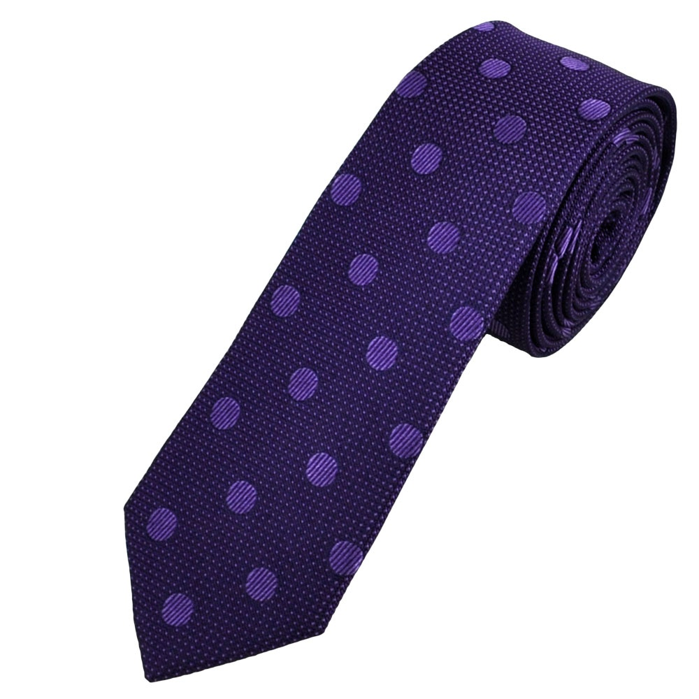 purple lavender dot silk designer tie by simon