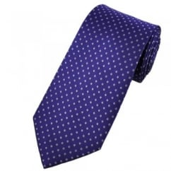 Purple & Lilac Polka Dot Patterned Men's Tie