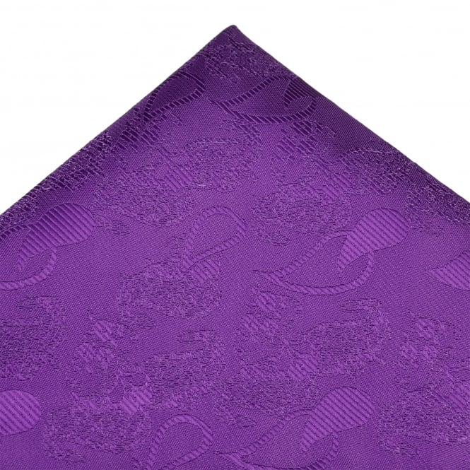 Purple Paisley Patterned Pocket Square Handkerchief