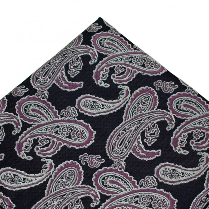 Purple Paisley Pocket Square Handkerchief