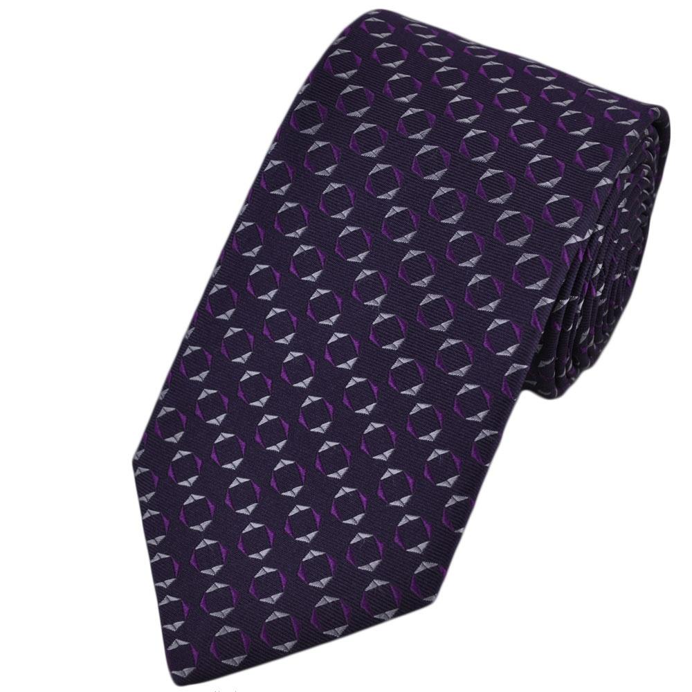 Purple Pattern Silk Tie from Ties Planet UK - photo#16