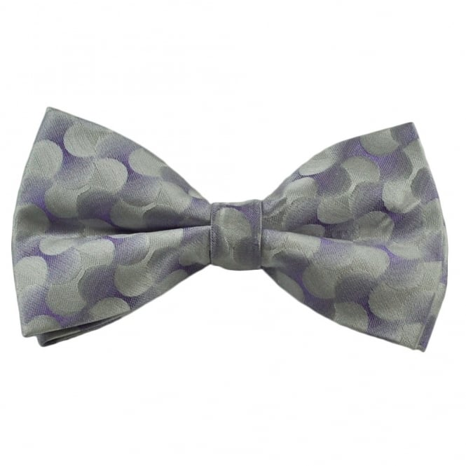 Purple Swirl Patterned Silk Bow Tie
