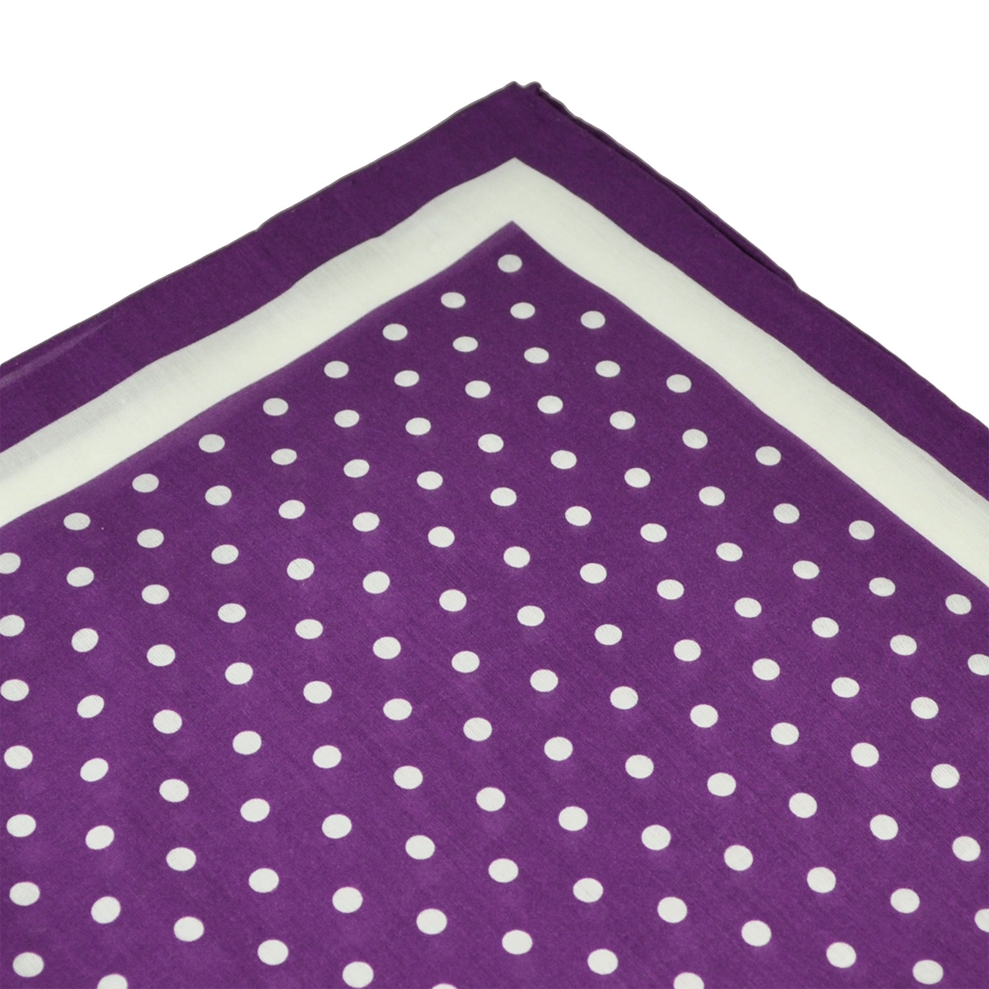 Hankie Pocket Square Handkerchief Purple with Mauve Spot