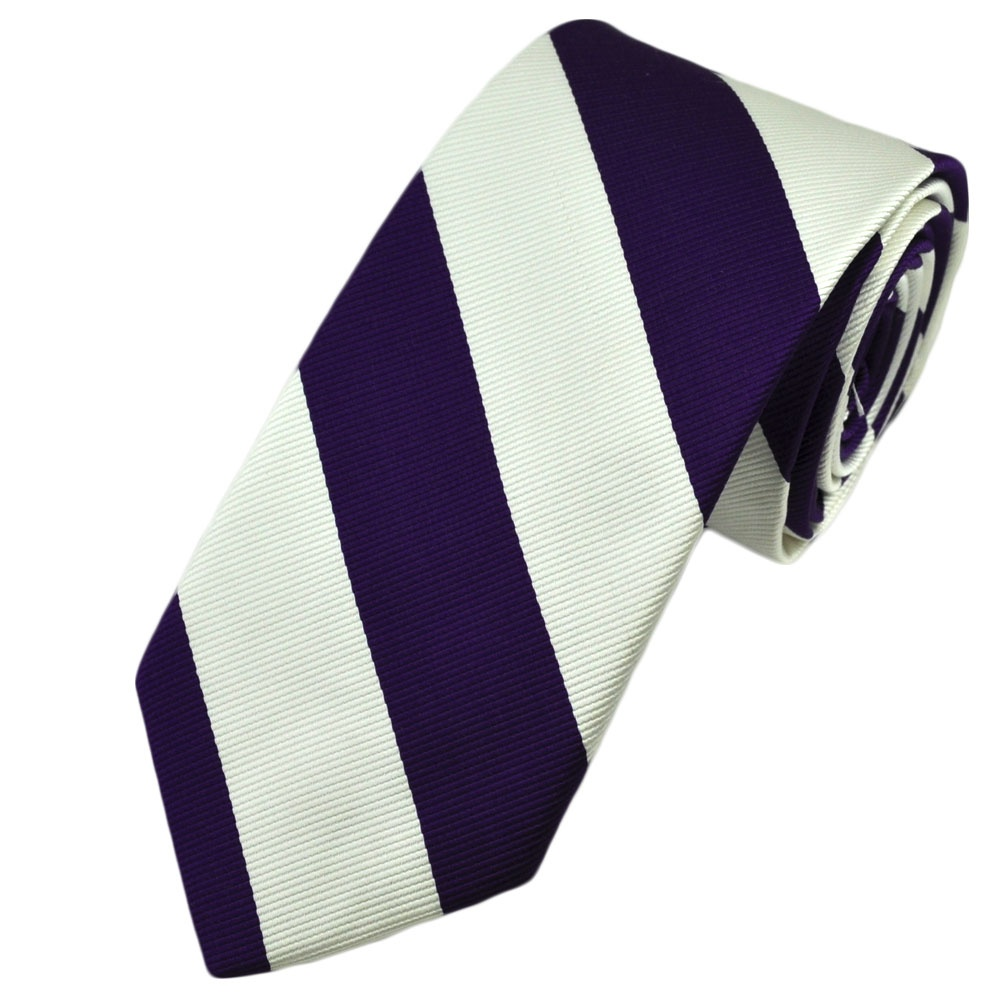 The Tie Bar has a large selection of boys purple ties for 6 years of age through 4'8.