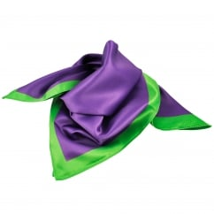 Purple with Green Border Bandana Neckerchief