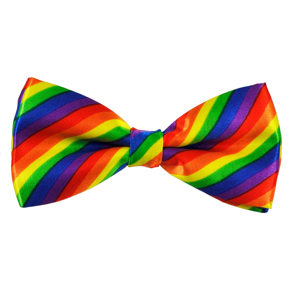 Rainbow Striped Novelty Bow Tie From Ties Planet UK