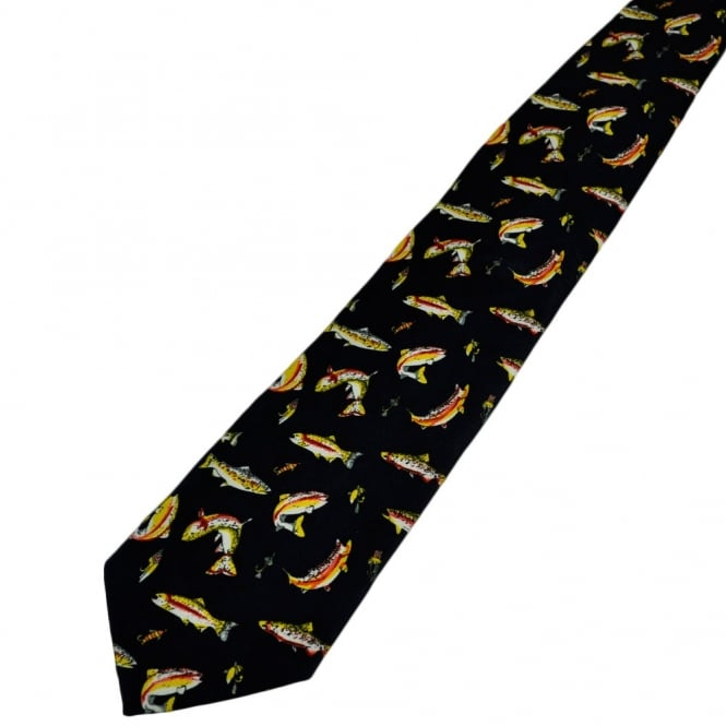 Rainbow Trout, Fishing Novelty Tie