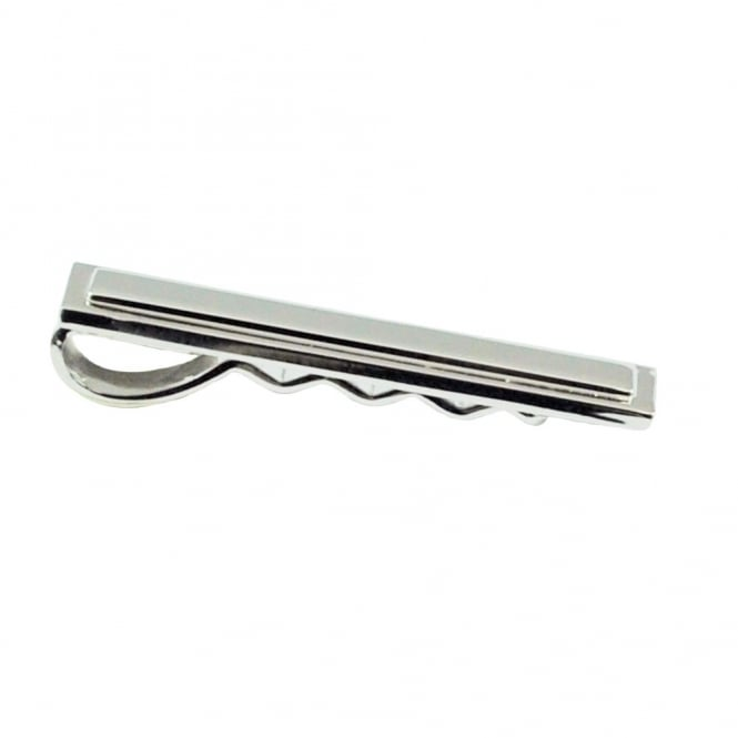 Rectangle Silver Tie Bar