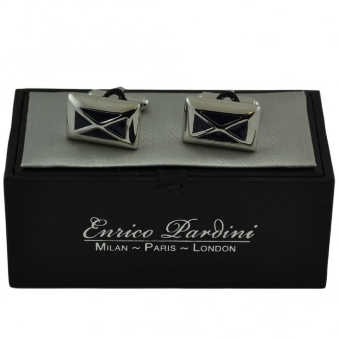 Rectangular Criss-Cross Designer Cufflinks By Enrico Pardini