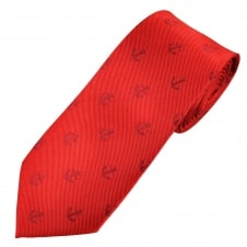 Red Anchor Luxury Novelty Tie