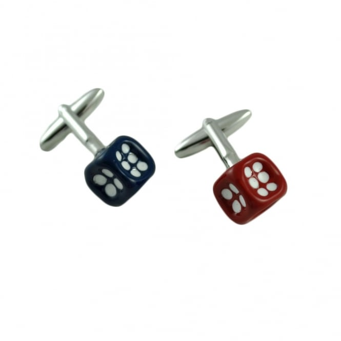 Red and Blue Dice Novelty Cufflinks