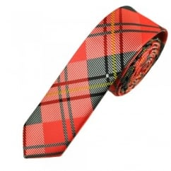 Red & Black Check Patterned Skinny Tie