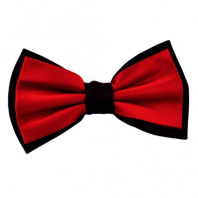 Red & Black Double Coloured Bow Tie
