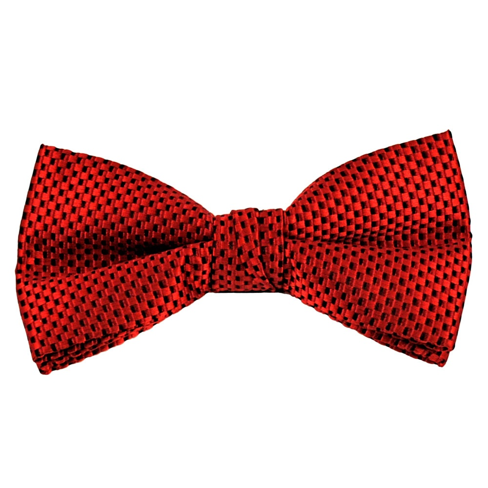Red Black Micro Checked Bow Tie From Ties Planet Uk