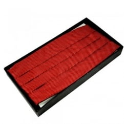 Red & Black Micro Checked Cummerbund