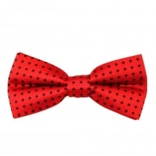 Red & Black Polka Dot Boys Bow Tie