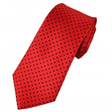 Red & Black Polka Dot Men's Tie
